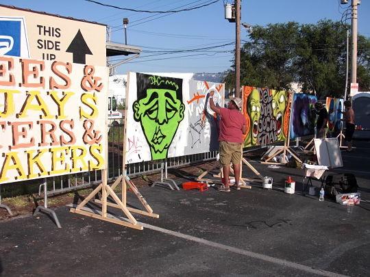 Graffiti showcase at S.L.U.M. Fest 2011