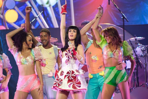 Different outfits, same idea. Katy Perry got weird during her Super Bowl XLIX performance just like she did during her 2011 show at Scottrade Center. See more photos here. - JON GITCHOFF