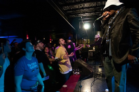 Kool Keith works the crowd. - SCOTT LAYNE