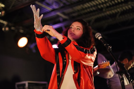 Dots Not Feathers performing as Michael Jackson at AUCW 2012. - JASON STOFF