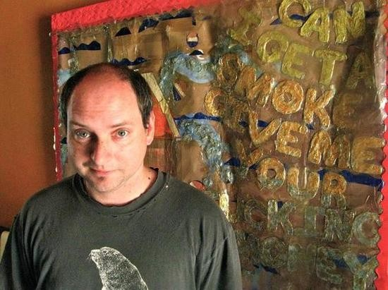 Kevin Harris in his former studio space, Floating Laboratories. - JOSH LEVI