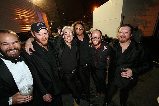 The Dock Ellis Band poses for a photo just after performing. See more photos from The Lot here. - PHOTO: NICK SCHNELLE