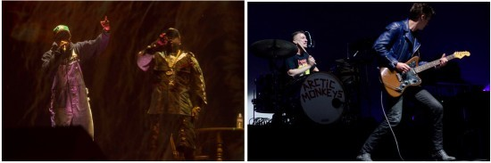 Outkast at Coachella in 2014; Arctic Monkeys at Chaifetz Arena in 2012 - TIMOTHY NORRIS AND KHOLOOD EID