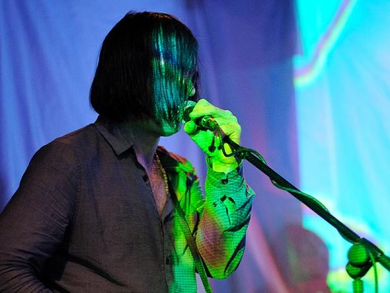 Anton Newcombe of Brian Jonestown Massacre, last night at Off Broadway. See a full slideshow from last night's show. - JASON STOFF