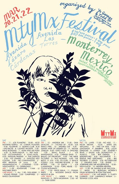 The poster for MtyMx, with lineup.