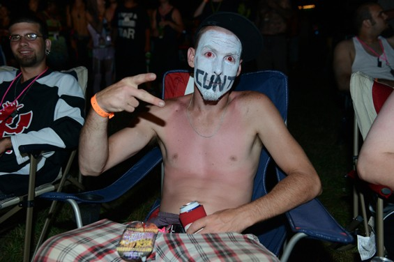 """A juggalo photographed on Wednesday, the first day of the Gathering, 2013. - NATE """"IGOR"""" SMITH"""