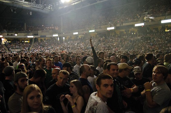 11,000 or so Tool fans on Saturday night at Family Arena in St. Charles. See more photsos from Tool's show on Saturday at Family Arena. - PHOTO: JASON STOFF