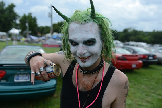 "A juggalo photographed on Wednesday, the first day of the Gathering, 2013. - NATE ""IGOR"" SMITH"