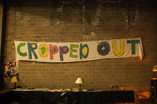 The banner at Cropped Out 2011 - CASEY CHALMERS