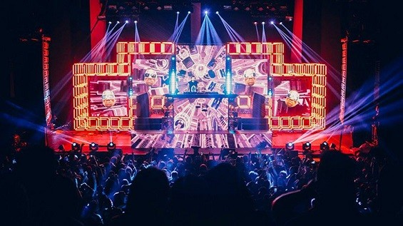 "The ""Neon Future Experience"" in full effect. - CESAR SEBASTIAN"