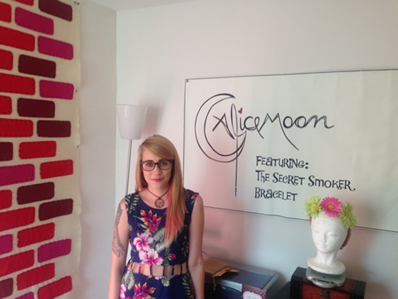 Amanda Lewis Megan Arseneaux in her work studio. - AMANDA LEWIS