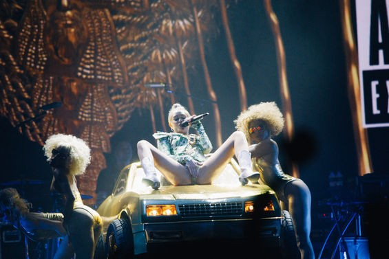 Miley Cyrus at Scottrade Center. See more photos here. - BRYAN SUTTER