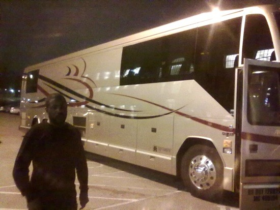 Raekwon's tour bus on Wash. U.'s campus last night. - DANIEL HILL