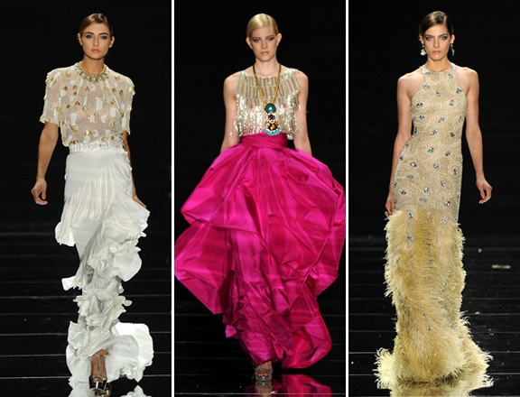 Naeem Khan, Spring 2012 - GETTY IMAGES