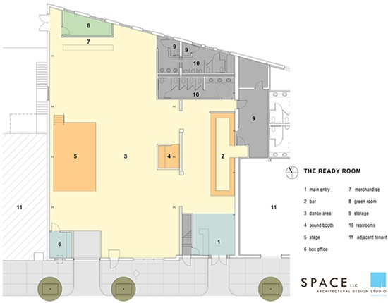 The floor plan for the Ready Room designed by SPACE Archiecture + Design. - COURTESY OF SPACE