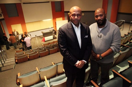 Dr. Anthony Pinn and Bun B pre-lecture at Rice University. Their course, Religion and Hip Hop, probably doesn't require The Elements of Style, but that doesn't mean you shouldn't read it. - MAYRA BELTRAN