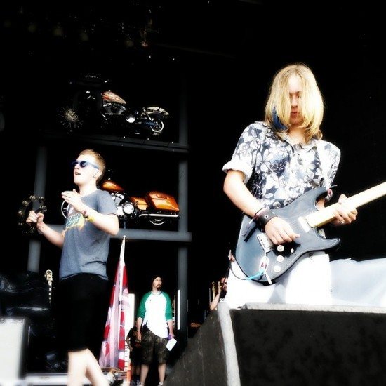 School of Rock students from Ballwin and Kirkwood perform at Summerfest in Milwaukee. - ALL PHOTOS COURTESY OF SCHOOL OF ROCK