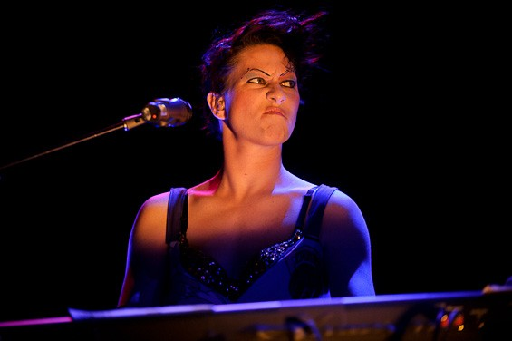 Amanda Palmer of the Dresden Dolls at the Pageant - TODD OWYOUNG