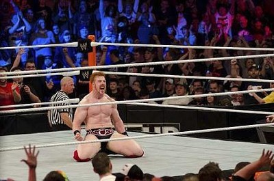 WWE wrestler Sheamus erupts with joy after winning the 2012 Royal Rumble in St. Louis. The Celtic Warrior is of no relation to Gareb Shamus, the controversial founder of Wizard Entertainment. - KHOLOOD EID PHOTO