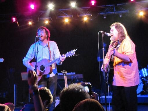 Okkervil River's Will Sheff and Roky Erickson at SXSW, 3/18/10 - DANA PLONKA