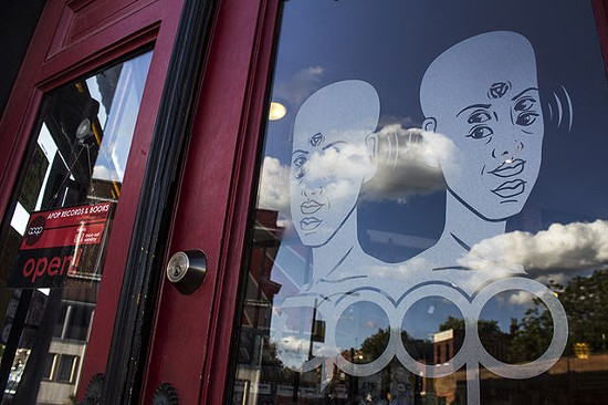 Outside Apop Records. - MABEL SUEN