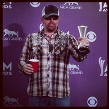 Toby Keith brought an actual Red Solo Cup to the ACMA media room when the song of the same name won an award for best video. That's a borderline meta moment if there ever was one. - DANIELLE SMITH
