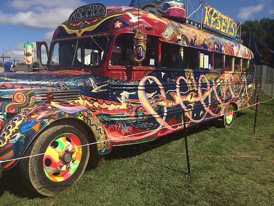 The Furthur Bus made an appearance. Not the original, but it's more about what it represents, man. - PHOTO BY MITCH RYALS