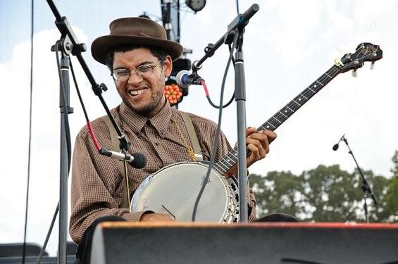 Dom Flemons of Carolina Chocolate Drops at LouFest. - JASON STOFF