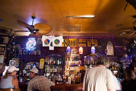 The bar at the Shanti.