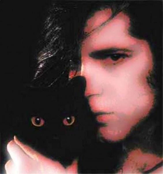 Yep. Danzig with a cat. - IMAGE VIA