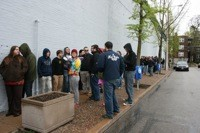 THE LINE AT VINTAGE VINYL. PHOTO BY CHRISSY WILMES