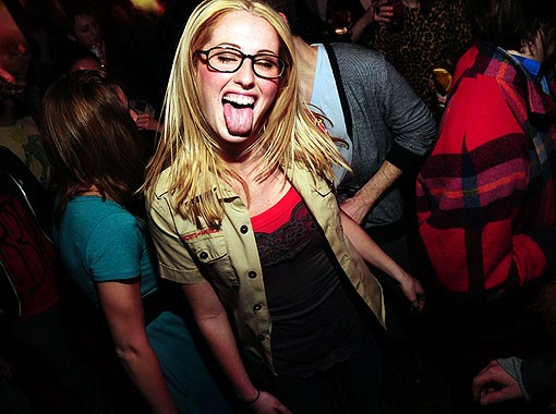 A reveler last night at the Gramophone. See a full slideshow from last night here. - PHOTO: EGAN O'KEEFE