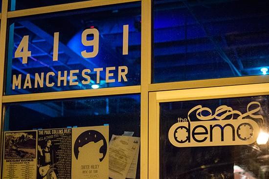 The Demo's new door decals. - PHOTOS BY MABEL SUEN