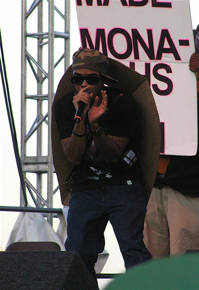Rockwell Knuckles wore a meanie mask and took center stage for a few songs. View more photos.