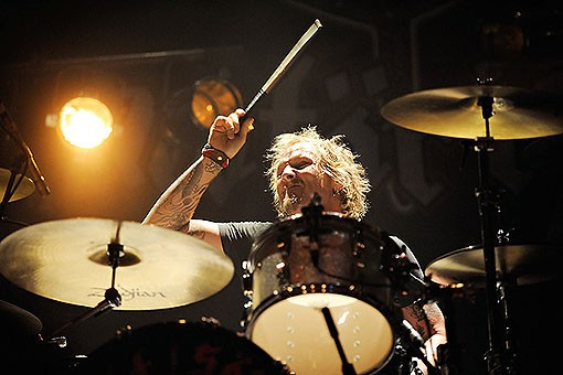 Drummer Matt Sorum, playing in Motorhead this tour - TODD OWYOUNG