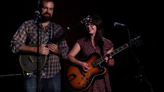 Karl Eggers and Beth Bombara at Off Broadway - COURTESY OF THE CHEVY MUSIC SHOWCASE