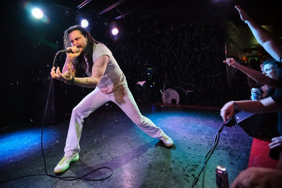 Andrew W.K. returns to St. Louis as a one-man band in June. See more photos from his 2013 concert in RFT Slideshows. - PHOTO BY JASON STOFF