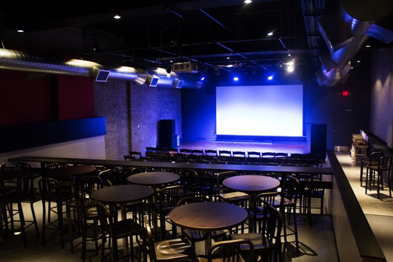 The Stage at KDHX, a 140-seat capacity listening room that will feature concerts and film screenings. - PHOTOS BY MABEL SUEN