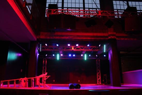 The stage at Plush. - MABEL SUEN