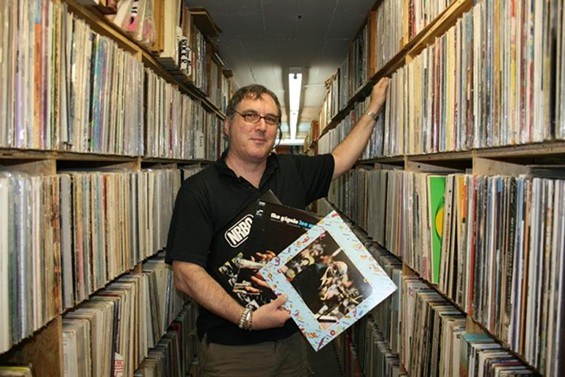 Joe Schwab of Euclid Records has a cooler basement than you do. - JON SCORFINA