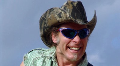 Nugent performs at a USO show in 2004 in Naples, Italy.