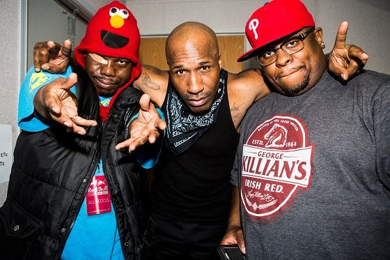 The Geto Boys, left to right: Bushwick Bill, Willie D, and Scarface. - PRESS PHOTO