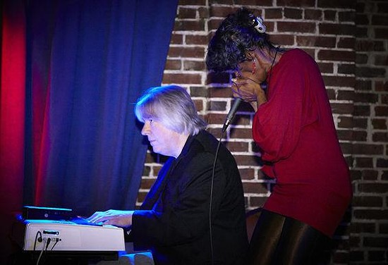 Bob Lohr and Ingrid Berry-Clay during that October 2013 show at Blueberry Hill.