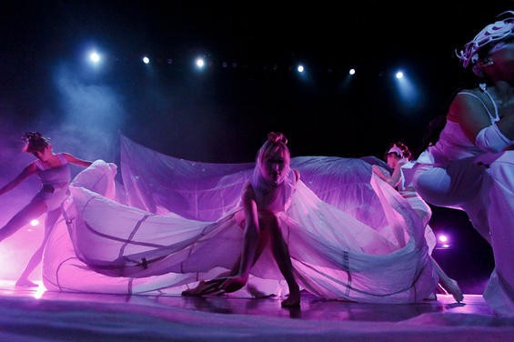 Quixotic's troupe includes dancers, aerialists, multimedia visual artists and musicians. - NICK SCHNELLE