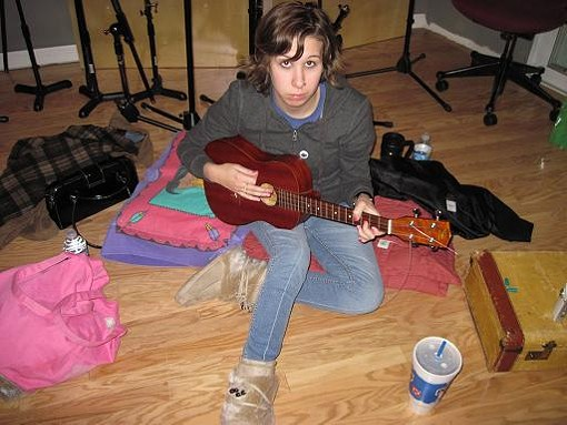 Becky Coleman, playing the uke - COURTESY OF DANIEL WILLIAMS