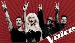 """Christina Aguilera, Cee-Lo Green, and some white guys are the hosts of America's first communist TV talent show, """"The Voice."""""""