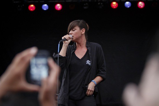 Cat Power performing at LouFest 2011. - NICK SCHNELLE