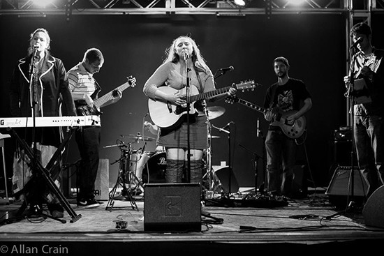 Langen Neubacher, center, with her band, the Defeated County. - ALLAN CRAIN
