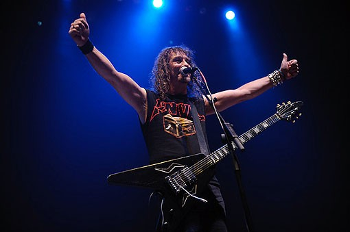 Anvil last night at the Pageant. See the full slideshow from last night here. - PHOTO: TODD OWYOUNG