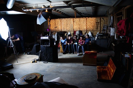 BEHIND THE SCENES OF THE BREAKS' AUCW PHOTO SHOOT. PHOTO BY BRYAN SUTTER